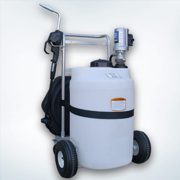 25 Gallon Oil Tank On Portable Storage Cart