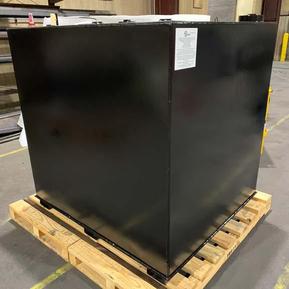 Black Double Walled Steel Tank
