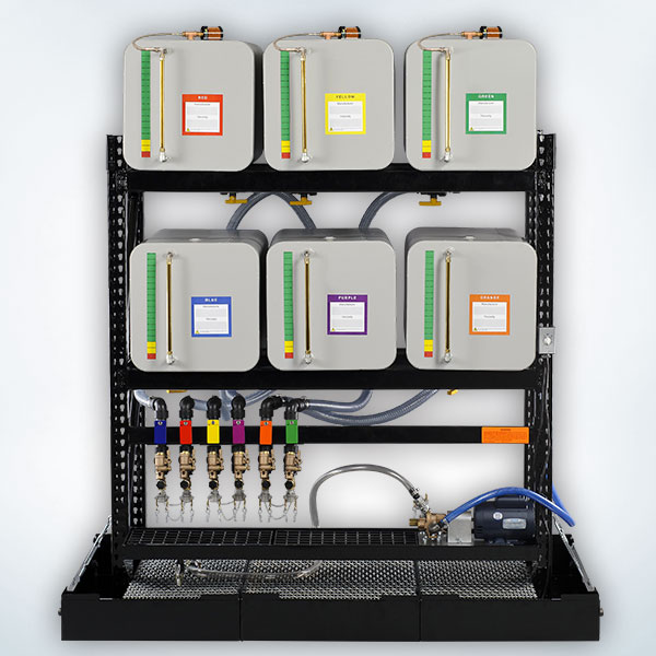Standard Color Coded Oil Storage System