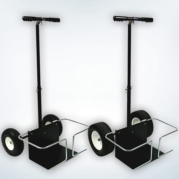 """Versa Carts have 10"""" or 12"""" Foam Filled Tires, Telescoping Handle and Steel Detachable Load Plate"""