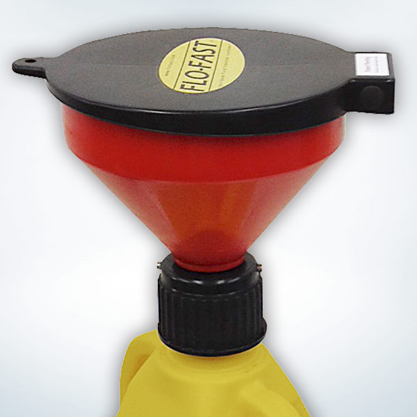 Funnel Kit with Flip-Top Cap, 40 Micron Screen, Secures onto all FLO-FAST Container