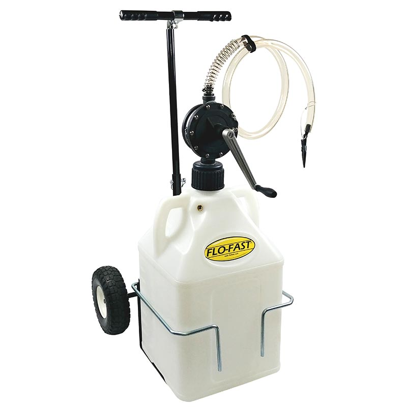 """FLO-FAST Versa Cart with 10"""" Tires, Pump and (1) 15 Gallon Container, Use with DEF"""