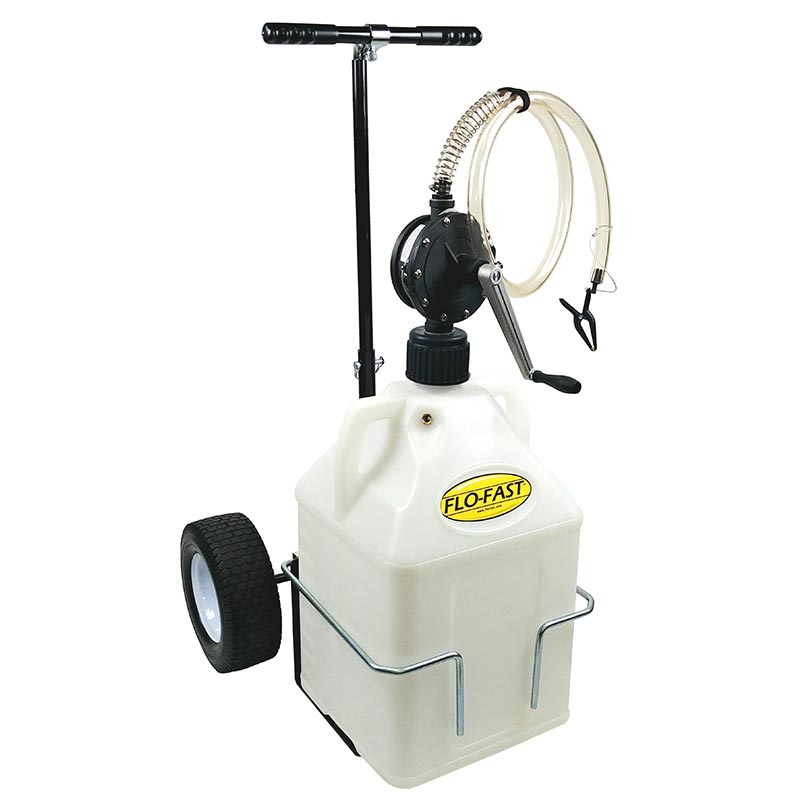 """FLO-FAST Versa Cart with 12"""" Tires, Pump and (1) 15 Gallon Container, Use with DEF"""