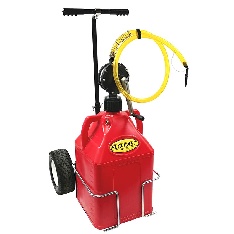 """FLO-FAST Versa Cart with 12"""" Tires, Pump and (1) 15 Gallon Container, Red"""