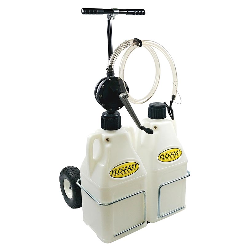 """FLO-FAST Versa Cart with 10"""" Tires, Pump and (2) 7.5 Gallon Containers, Use with DEF"""