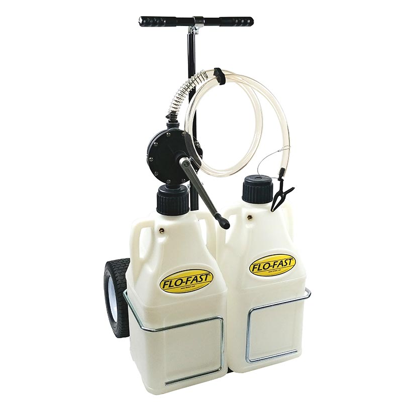 """FLO-FAST Versa Cart with 12"""" Tires, Pump and (2) 7.5 Gallon Containers, Use with DEF"""