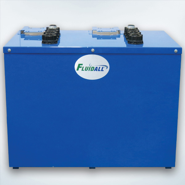 Hybrid Double Wall Tank PLUS Package: Includes Tank with Built-In Containment, Reel Bracket, Fluid Level Gauge and Lockable Vent Cap