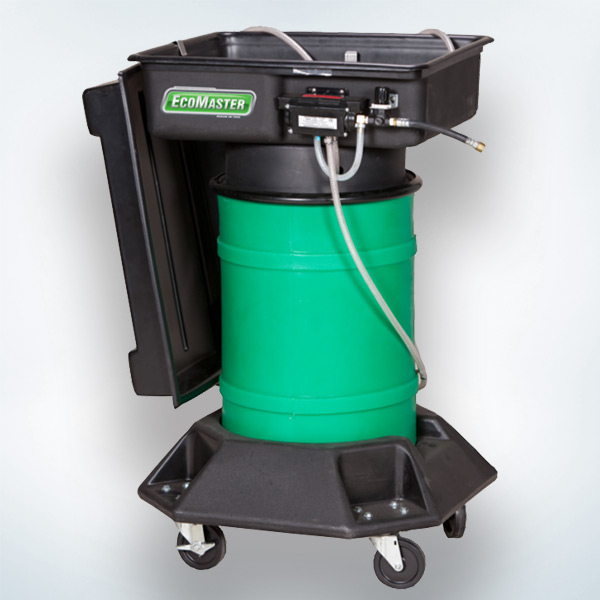 Heavy Duty Portable Washer : Drum mounted portable parts washer fluidall