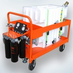 Platform Style Portable Oil Filter Cart