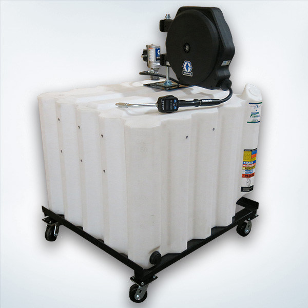 Portable Oil Tank On Steel Base With Casters