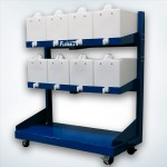 Castered Dispensing Rack Tank System