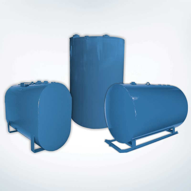 Round And Obround Steel Tanks And Tank Skids