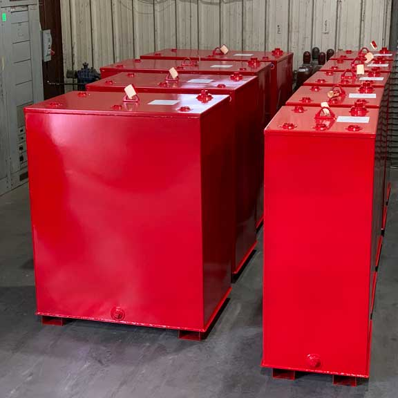 Red Slim Tanks