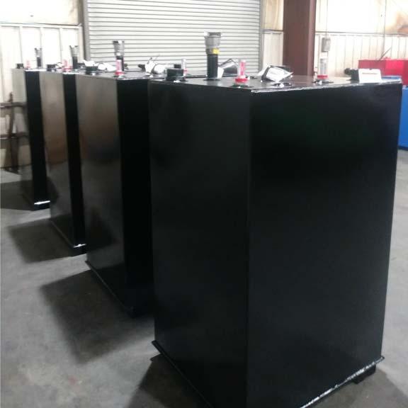 Painted Black Steel Tanks