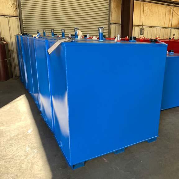 Blue Double Walled Steel Tanks