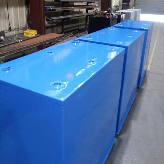 Steel Tanks Ready to Ship Out