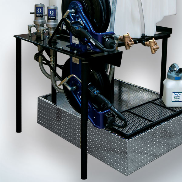 Shelf for Dual Pump Packages