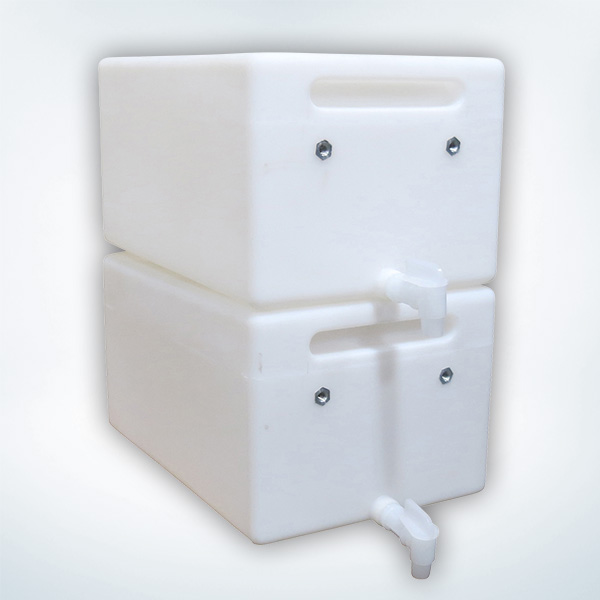 Stackable 6.5 Gallon Gravity Feed Tanks