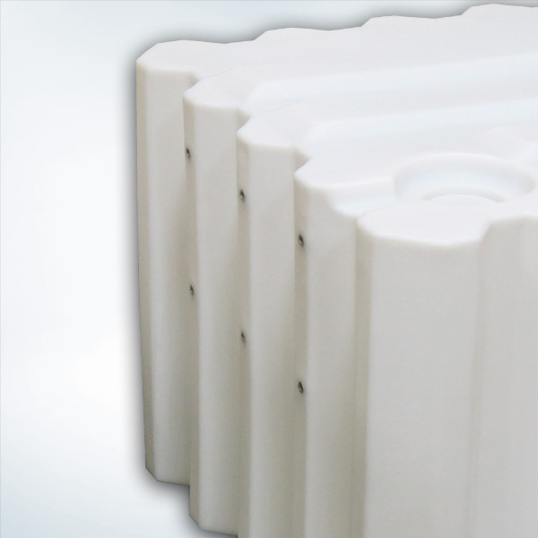 (6) 3/8-16 Molded Inserts on Side Surface (secures side-mounted dispense equipment)