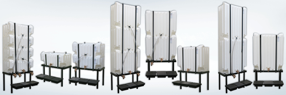Stackable Wall-Stacker Poly Tanks and Gravity Feed Systems